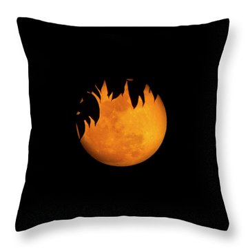 Throw Pillow featuring the photograph Wolf Moon by Mark Andrew Thomas