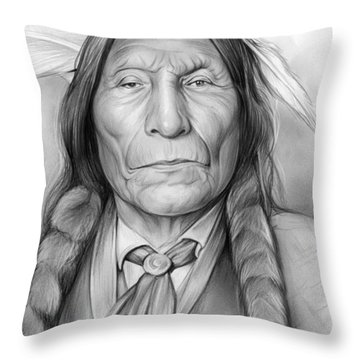 Wolf Robe Throw Pillow