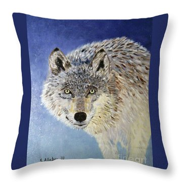 Wolf Study Throw Pillow