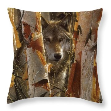 Wolf - The Guardian Throw Pillow