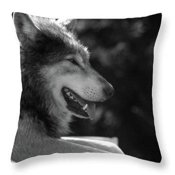 Wolfie Throw Pillow