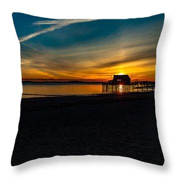 Wollaston Beach Sunrise 3 Throw Pillow
