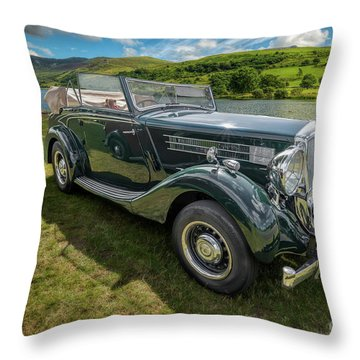 Throw Pillow featuring the photograph Wolseley Classic Car by Adrian Evans