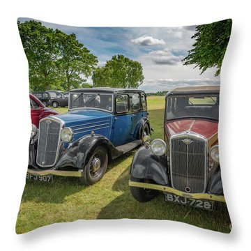 Throw Pillow featuring the photograph Wolseley Motors by Adrian Evans