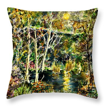Wolven Moon Throw Pillow