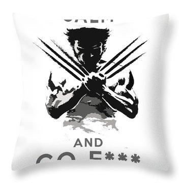 Wolverine Keep Calm Throw Pillow