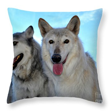 wolves IV Throw Pillow