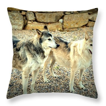 wolves XI Throw Pillow