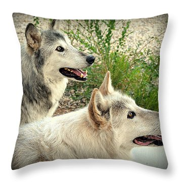 wolves XV Throw Pillow