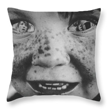 Woman Child Throw Pillow