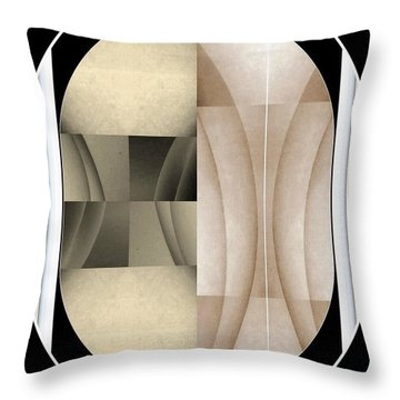 Woman Image Three Throw Pillow