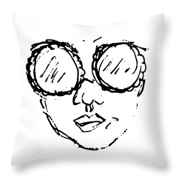 Woman In Sunglasses Throw Pillow