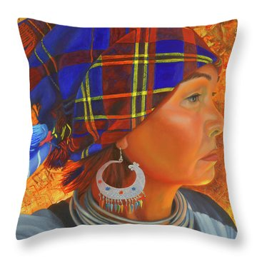 Woman In The Shadow Throw Pillow