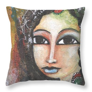 Woman - Indian Throw Pillow