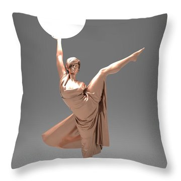Woman Lamp Number Three Throw Pillow