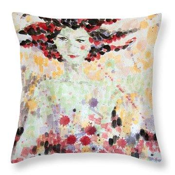 Woman Of Glory Throw Pillow