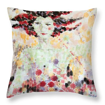 Woman Of Glory Throw Pillow