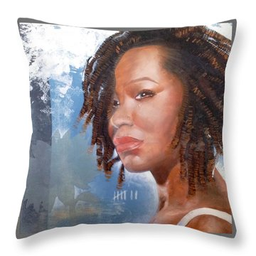 Woman Of Magdala Throw Pillow by Christopher Marion Thomas