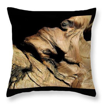 Old Woman Of The Woods Throw Pillow