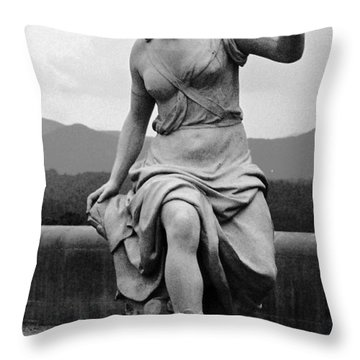 Throw Pillow featuring the sculpture Woman Sculpture Nc by Eric  Schiabor