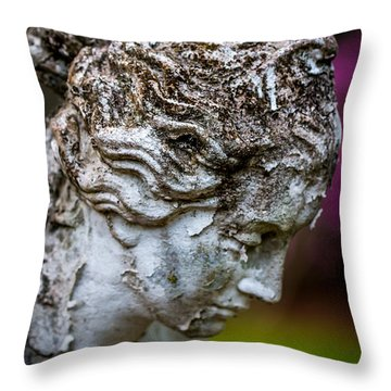 Woman Statue Head Throw Pillow