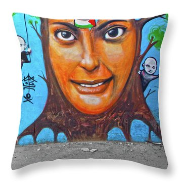 Throw Pillow featuring the photograph Woman Tree by Munir Alawi