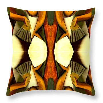 Woman With A Fan X4 Throw Pillow by Picasso