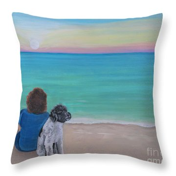 Woman's Best Friend Throw Pillow