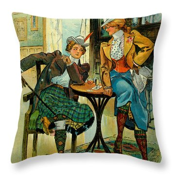 Woman's Club 1899 Throw Pillow by Padre Art
