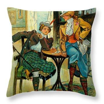 Woman's Club 1899 Throw Pillow