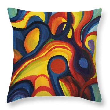 Women As Caregivers Throw Pillow