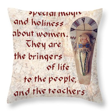 Women Bring Life Throw Pillow