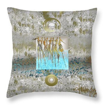 Women Chanting - Song Of Europa Throw Pillow