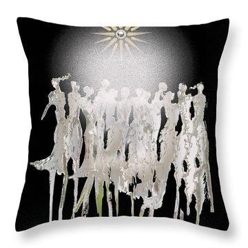 Women Chanting - Spirit Dance Throw Pillow