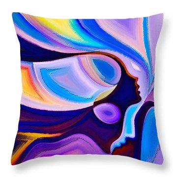 Throw Pillow featuring the digital art Women by Karen Showell