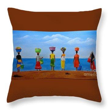 Women Of Africa  Throw Pillow