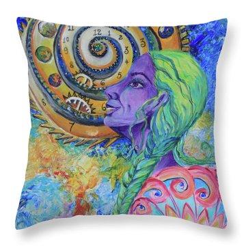 Women Of The Future Throw Pillow
