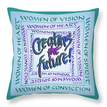 Women Of Vision Throw Pillow