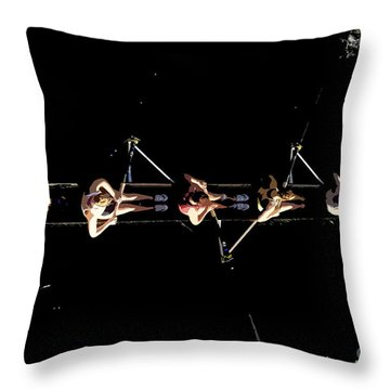 Women Rowing Throw Pillow by David Lee Thompson