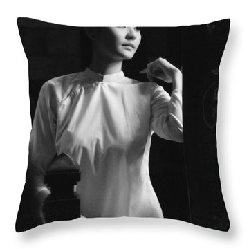 Women Vietnam Throw Pillow