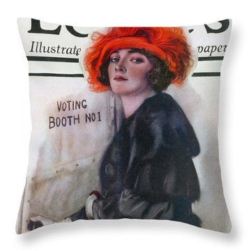 Women Voting, 1920 Throw Pillow by Granger