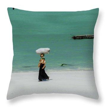 Women Worker Throw Pillow