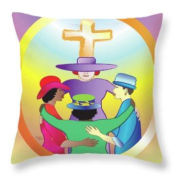 Women's Circle Of Faith Throw Pillow