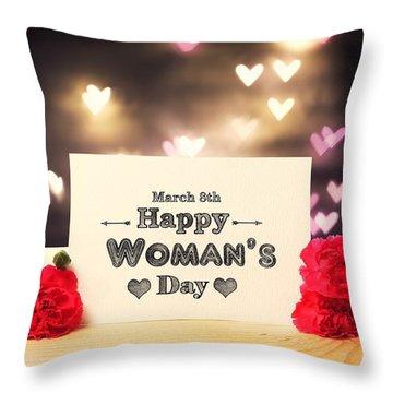 Women's Day Throw Pillow