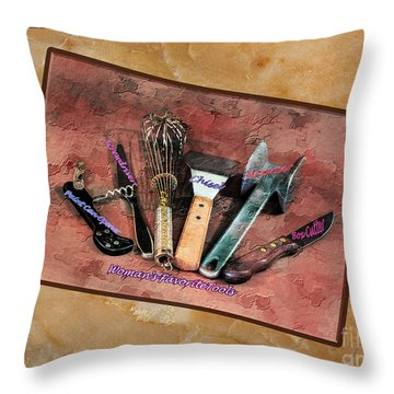Women's Favorite Tools Throw Pillow
