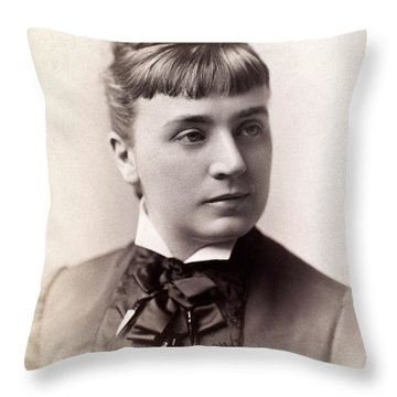 Womens Hairstyle, 1880s Throw Pillow