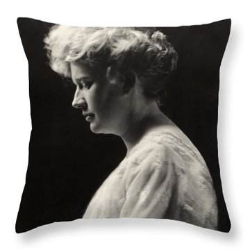 Womens Hairstyle, C1900 Throw Pillow