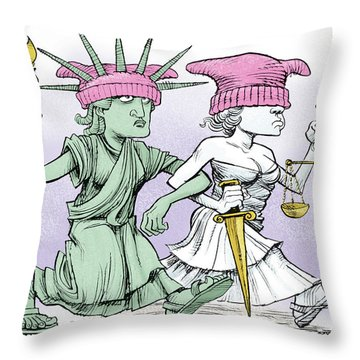 Women's March On Washington Throw Pillow