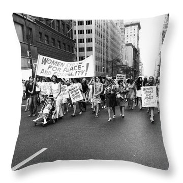 Womens Rights, 1970 Throw Pillow by Granger