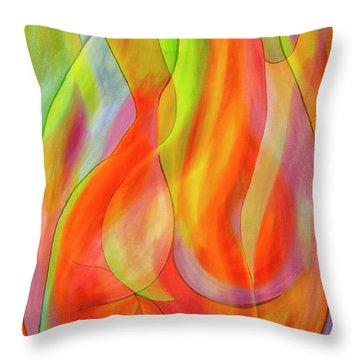 Women's Shapes 2 Throw Pillow